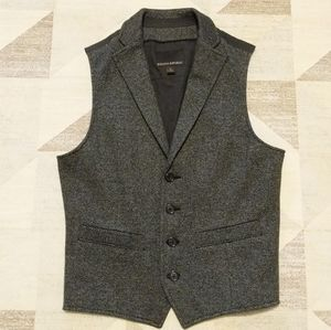 Banana Republic Charcoal Herringbone Vest Size S